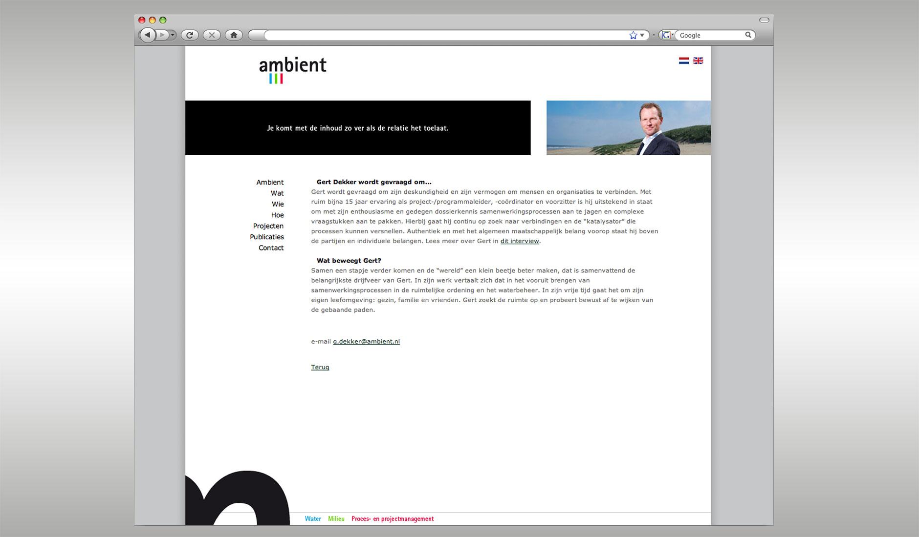 Ontwerp website Ambient