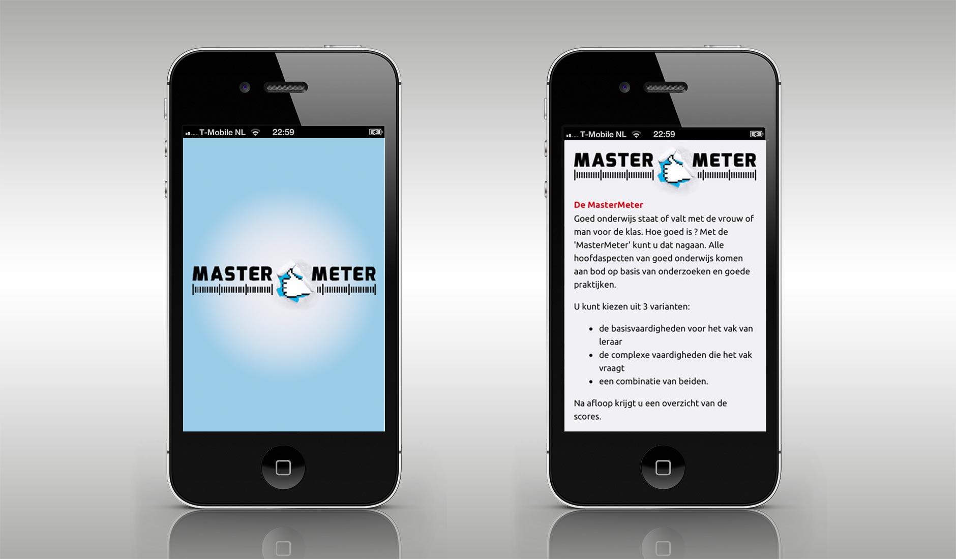 Ontwerp MasterMeter app.