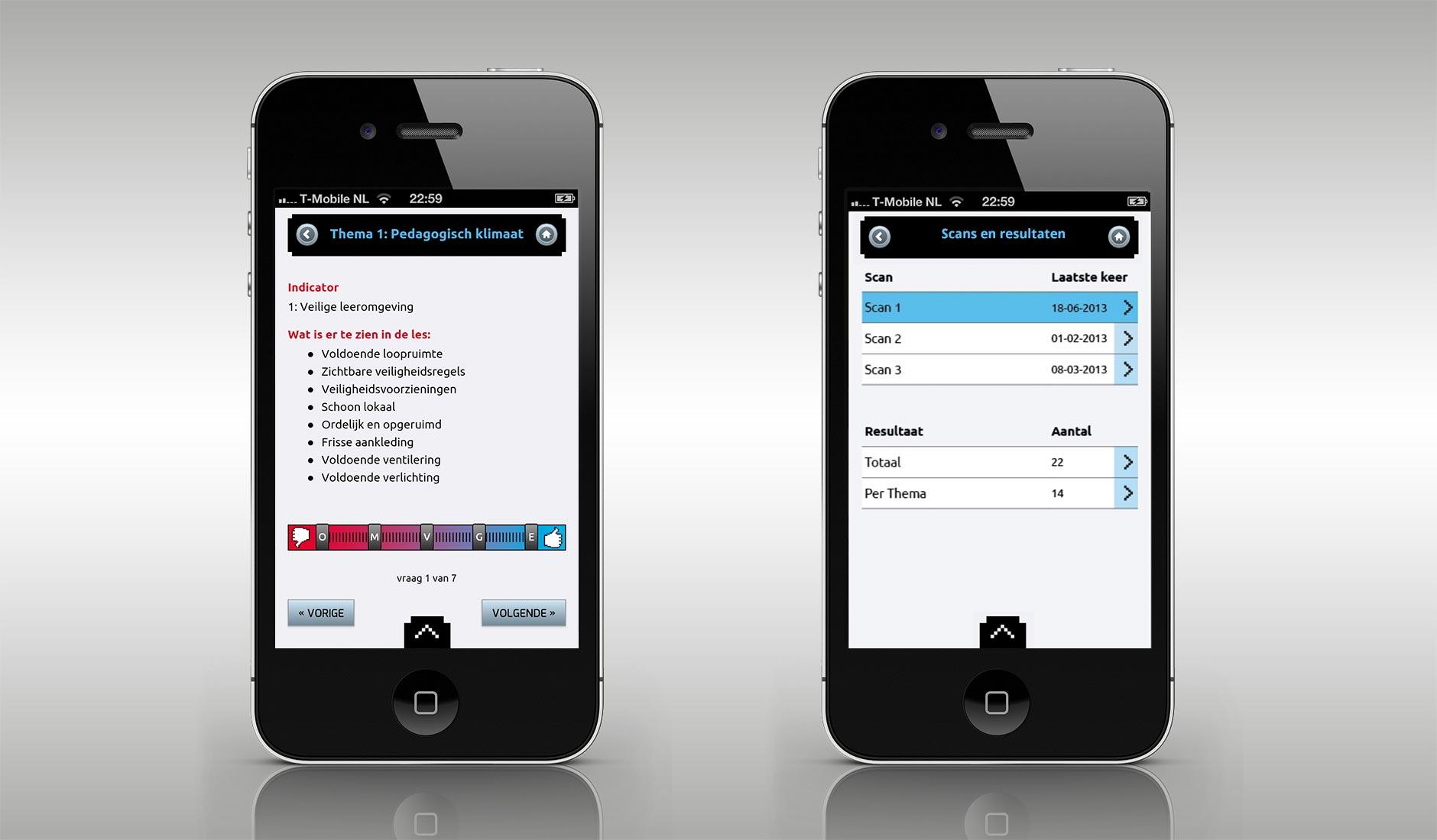 Ontwerp voor MasterMeter app.