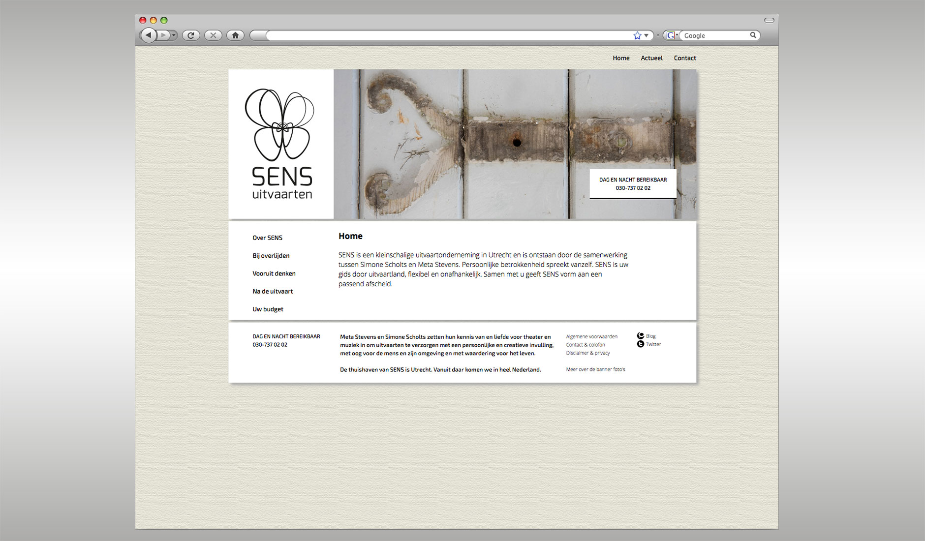 Website SENS uitvaarten